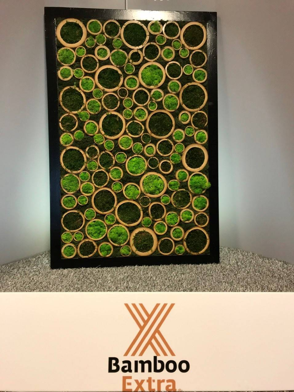 Bamboo moss painting black